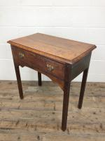 Antique Oak Console Table with Drawer (8 of 9)