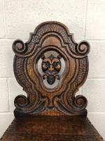 Pair of Antique Carved Oak Hall Chairs (7 of 11)