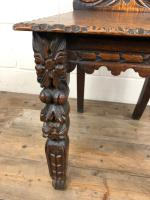 Pair of Antique Carved Oak Hall Chairs (9 of 11)