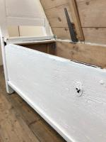 19th Century Painted Antique Pine Bench or Settle (9 of 13)