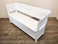 19th Century Painted Antique Pine Bench or Settle (12 of 13)