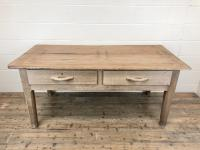 Early 20th Century Antique Oak & Pine Work Table (2 of 15)