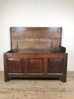 Antique 18th Century Welsh Oak Coffer Chest (6 of 13)