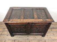 Antique 18th Century Welsh Oak Coffer with Carved Front (3 of 12)