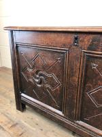 Antique 18th Century Welsh Oak Coffer with Carved Front (12 of 12)
