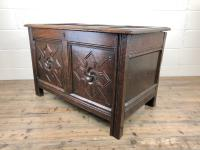 Antique 18th Century Welsh Oak Coffer with Carved Front (6 of 12)