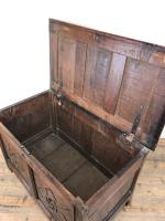 Antique 18th Century Welsh Oak Coffer with Carved Front (9 of 12)