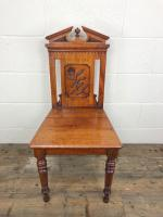 Decorative Antique Victorian Mahogany Hall Chair (2 of 8)