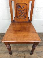 Decorative Antique Victorian Mahogany Hall Chair (3 of 8)