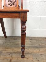 Decorative Antique Victorian Mahogany Hall Chair (5 of 8)