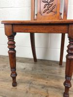 Decorative Antique Victorian Mahogany Hall Chair (6 of 8)