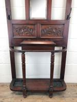 Antique Edwardian Mahogany Hat & Coat Hall Stand (2 of 10)