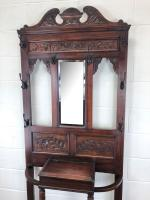 Antique Edwardian Mahogany Hat & Coat Hall Stand (3 of 10)