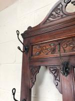 Antique Edwardian Mahogany Hat & Coat Hall Stand (4 of 10)