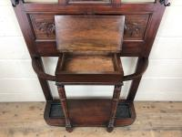 Antique Edwardian Mahogany Hat & Coat Hall Stand (5 of 10)