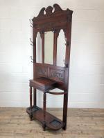Antique Edwardian Mahogany Hat & Coat Hall Stand (6 of 10)