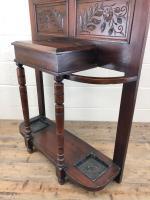 Antique Edwardian Mahogany Hat & Coat Hall Stand (7 of 10)