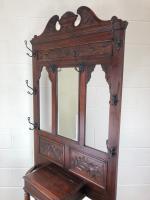 Antique Edwardian Mahogany Hat & Coat Hall Stand (9 of 10)