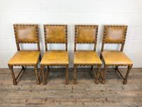 Set of Four Early 20th Century Leather Dining Chairs (2 of 10)