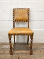 Set of Four Early 20th Century Leather Dining Chairs (4 of 10)