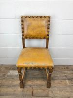 Set of Four Early 20th Century Leather Dining Chairs (5 of 10)