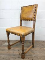 Set of Four Early 20th Century Leather Dining Chairs (8 of 10)