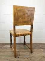 Set of Four Early 20th Century Leather Dining Chairs (10 of 10)