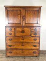 Antique 19th Century Oak Campaign Chest with Cupboard (2 of 17)