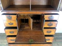 Antique 19th Century Oak Campaign Chest with Cupboard (7 of 17)