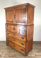 Antique 19th Century Oak Campaign Chest with Cupboard (9 of 17)