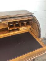 Early 20th Century Antique Oak Roll Top Desk (11 of 23)
