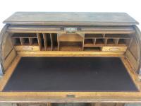 Early 20th Century Antique Oak Roll Top Desk (12 of 23)