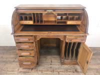Early 20th Century Antique Oak Roll Top Desk (13 of 23)