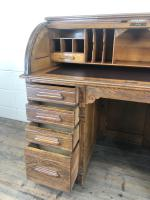 Early 20th Century Antique Oak Roll Top Desk (15 of 23)
