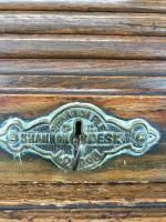 Early 20th Century Antique Oak Roll Top Desk (16 of 23)