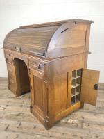 Early 20th Century Antique Oak Roll Top Desk (21 of 23)