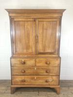 Early 19th Century Welsh Oak Linen Press Cupboard (2 of 13)