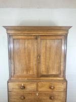 Early 19th Century Welsh Oak Linen Press Cupboard (4 of 13)