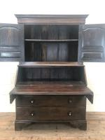 Antique 18th Century Welsh Oak Two Stage Bureau Cupboard (9 of 15)