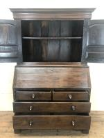 Antique 18th Century Welsh Oak Two Stage Bureau Cupboard (11 of 15)