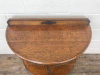 Early 20th Century Antique Oak Demi Lune Console Table (4 of 10)