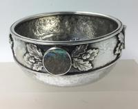 Silver Bowl Amy Sandheim London 1928 Abalone Rondels (6 of 7)