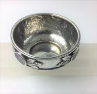 Silver Bowl Amy Sandheim London 1928 Abalone Rondels (5 of 7)