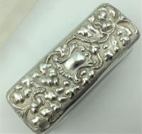 Silver Topped Glass Trinket Box Chester 1901 Nathan & Hayes (5 of 6)
