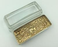 Silver Topped Glass Trinket Box Chester 1901 Nathan & Hayes (2 of 6)