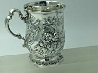 Superb Victorian Silver Christening Mug by James Charles Edington London 1854 (8 of 9)
