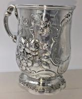 Superb Victorian Silver Christening Mug by James Charles Edington London 1854 (4 of 9)