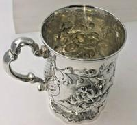 Superb Victorian Silver Christening Mug by James Charles Edington London 1854 (2 of 9)