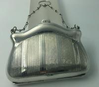 Silver Purse Birmingham 1913 Original Leather Liner, Excellent Condition (6 of 9)