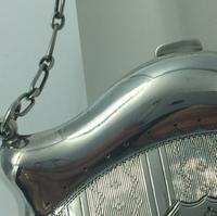Silver Purse Birmingham 1913 Original Leather Liner, Excellent Condition (7 of 9)